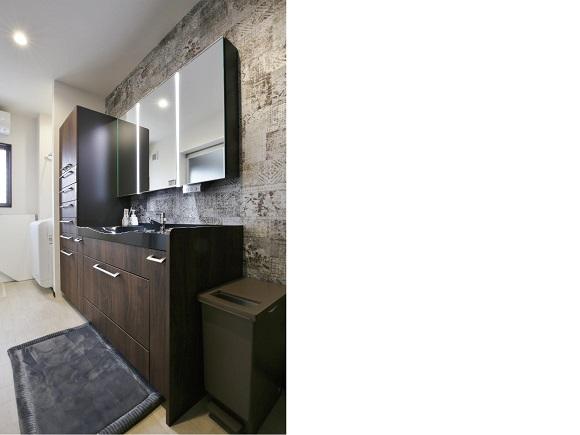 洗面室の施工事例写真